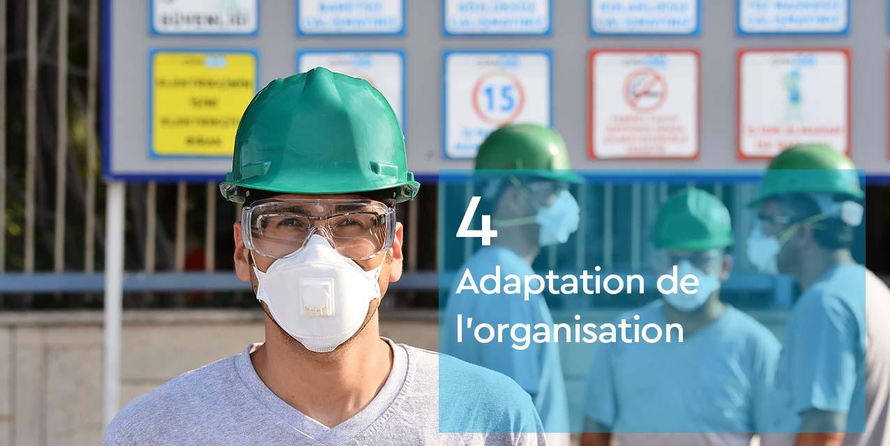 Adaptation organisation - masques et EPI