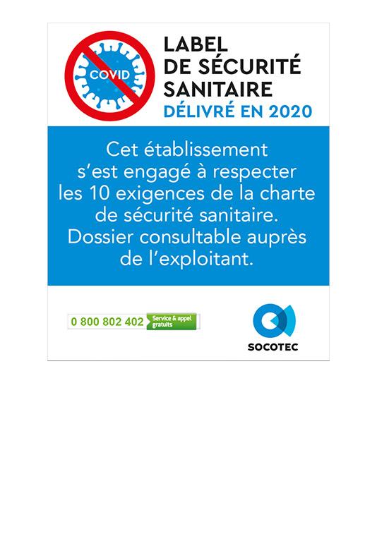 Label de securite sanitaire SOCOTEC