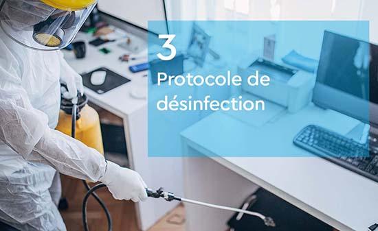 Protocole de desinfection