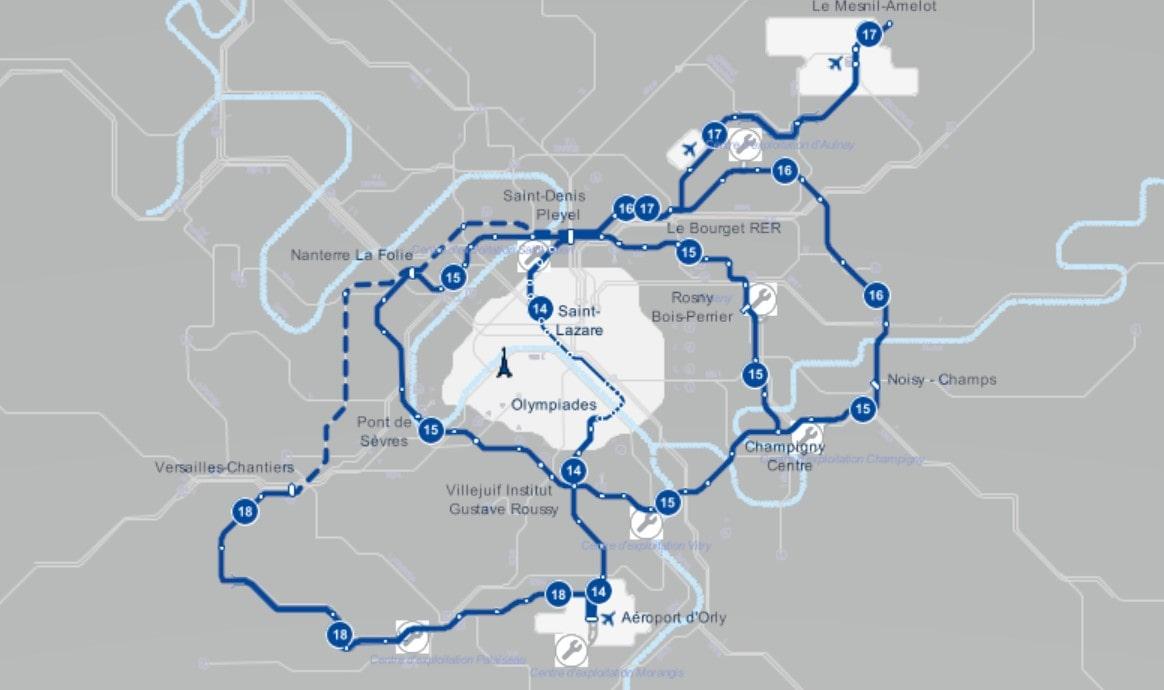 Lignes Grand Paris Express