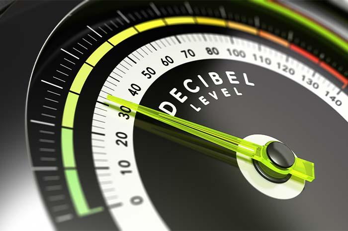 Compteur affichant les niveaux de décibels