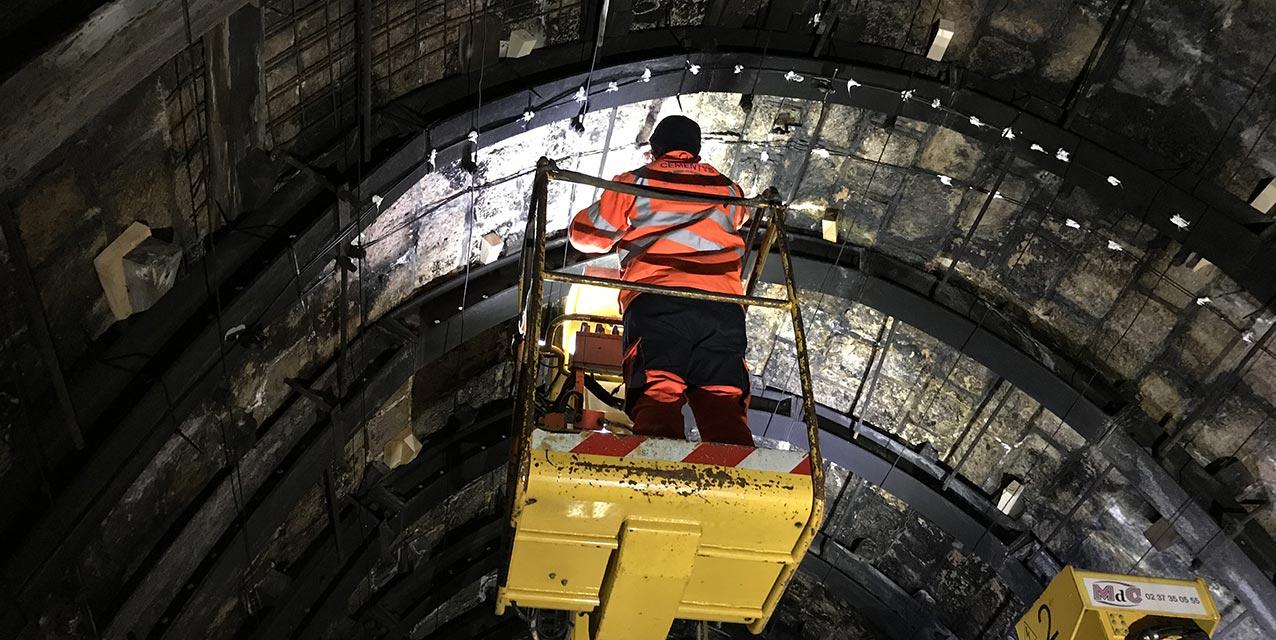 capteurs tunnel fibre optique