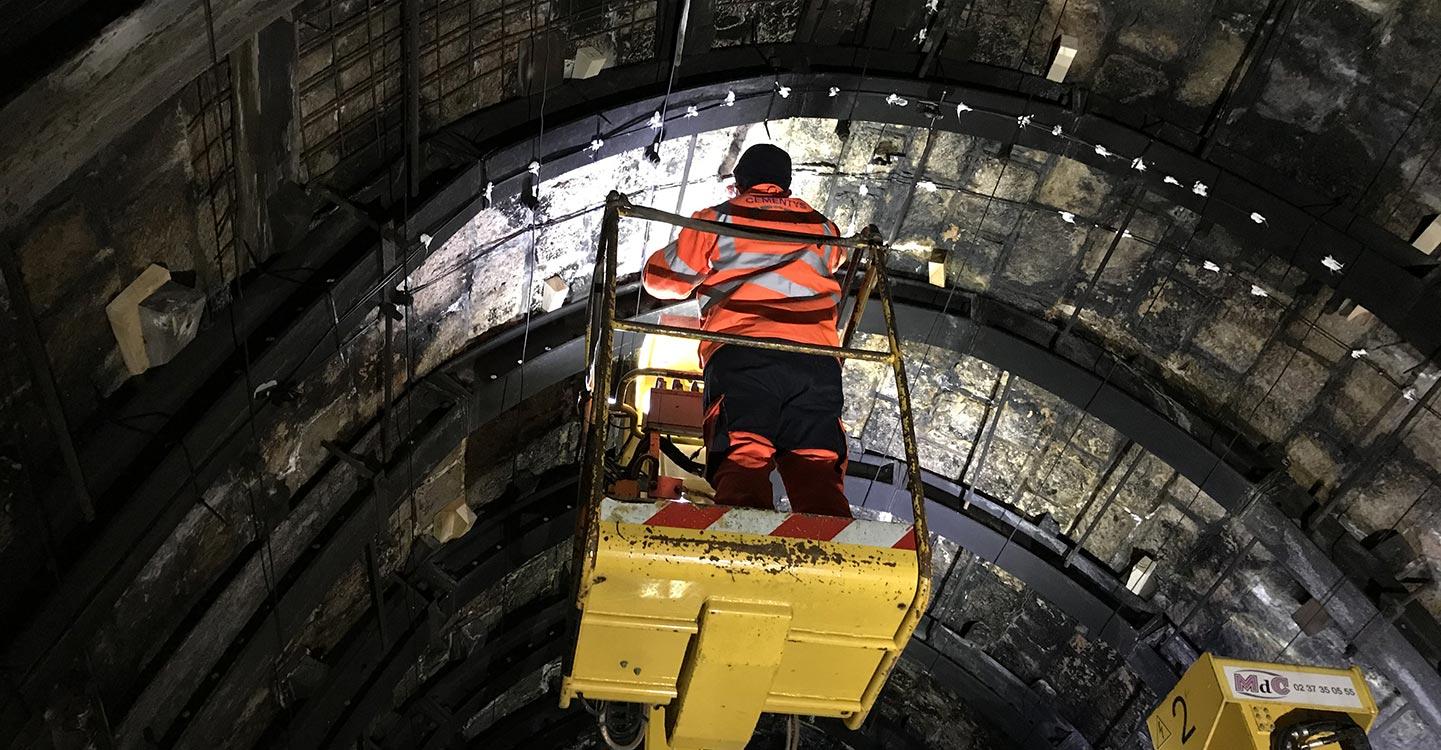 monitoring et auscultation infrastructures tunnels